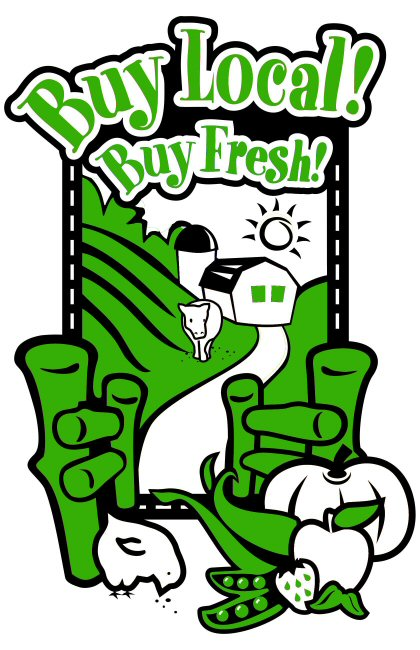 Buy Local! Buy Fresh! Full Graphic Green