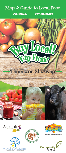 Buy Local! Buy Fresh! Thompson Shuswap Map